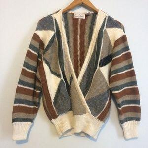 Vintage 80s Sweater / V Neck Wrap Front